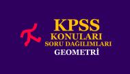 2019 KPSS Lisans Geometri Konuları ve Soru Dağılımları
