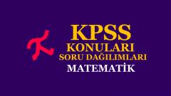 2022 KPSS Önlisans Matematik Konu ve Soru Dağılımı