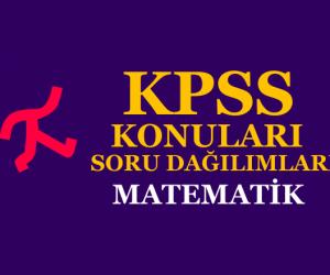 2020 KPSS Lisans Matematik Konuları ve Soru Dağılımları