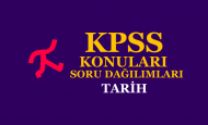 2020 KPSS Lisans Tarih Konuları ve Soru Dağılımları