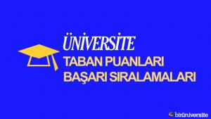 Konya Gıda ve Tarım Üniversitesi 2018 2019 Taban Puanları Başarı Sıralaması