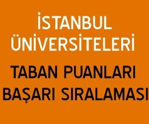 İstanbul'daki Üniversitelerin Taban Puanları (2019-2020)