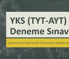 YKS (TYT – AYT) Deneme Sınavları İndir PDF 2021