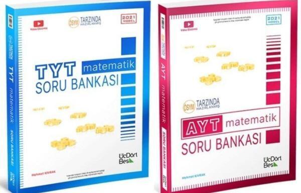 Üç Dört Beş Yayıncılık 2021 YKS TYT AYT Matematik Soru Bankası 2'li Set