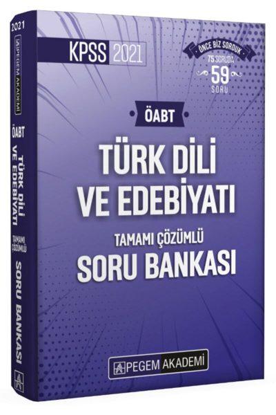 Pegem 2021 Kpss Öabt Türk Dili Ve Edebiyatı Tamamı Çözümlü Soru Bankası En Çok Satanlar