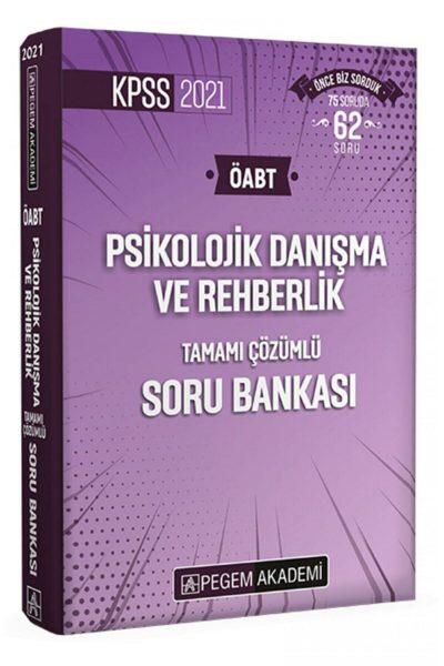 Pegem Yayınları 2021 Kpss Öabt Pdr Tamamı Çözümlü Soru Bankası