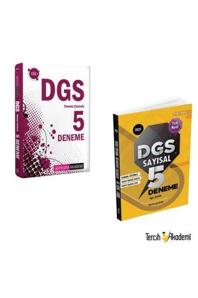 Pegem 2021 Dgs Çözümlü 5 Deneme + Tercih Dgs Çözümlü Sayısal 5 Deneme Ikili Set